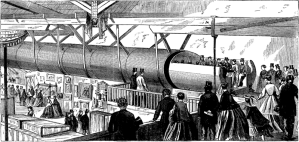 Experiments in pneumatic tube systems in New York