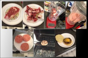 ribeye burger process