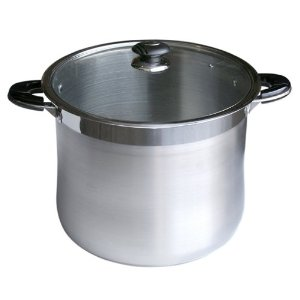 Alpha 30 QT Heavy Gage Stainless Steel Stock Pot with Glass Lid